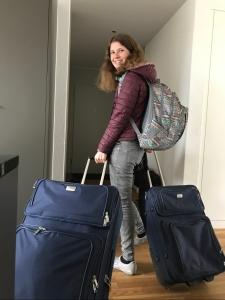 Daria auf dem Weg nach Genf