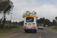 Bus mit Ladung